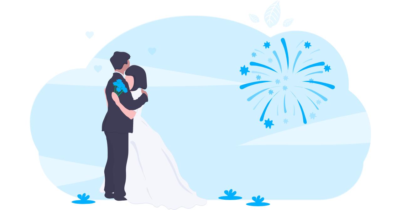 結婚を果たした男性